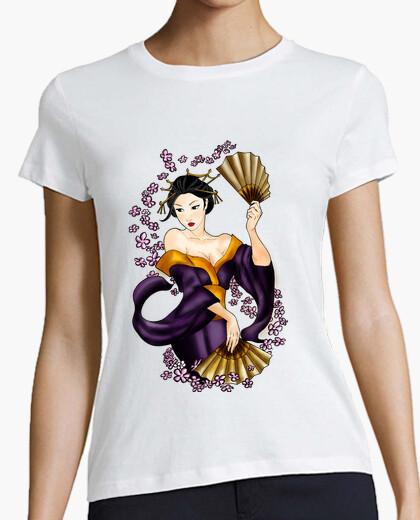Tee-shirt t-shirt femme geisha