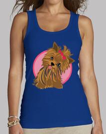T-shirt femme sans manches, Bleu Royal