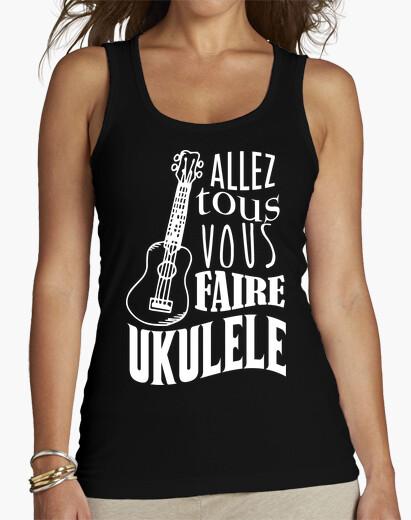 Tee-shirt T-shirt femme sans manches, Noir