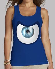 T-shirt femme sans manches, Rouge