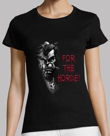 t-shirt femme thrall b & n pour la horde!