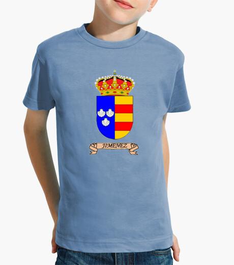 Abbigliamento bambino t-shirt figli scudo nome jimenez