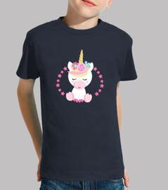 t-shirt fille de Licorne rose