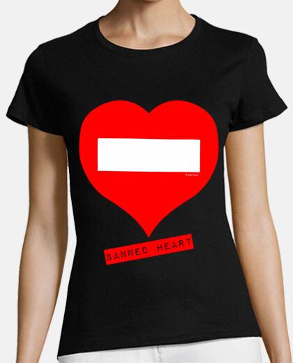 t-shirt fille interdit coeur