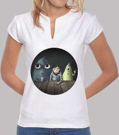t-shirt fille trois types rares plusieurs couleurs