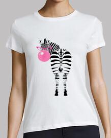 t-shirt fille zèbre