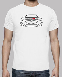 t-shirt front mazda cx-5 black - 1 sided