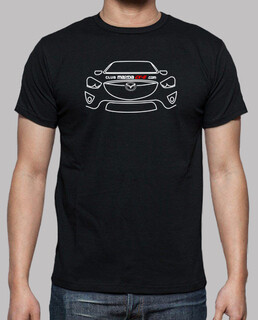 t-shirt front mazda cx-5 white - 1 sided