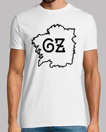 t-shirt galiza mappa branca / nero - home
