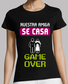 t-shirt gallina gioco over