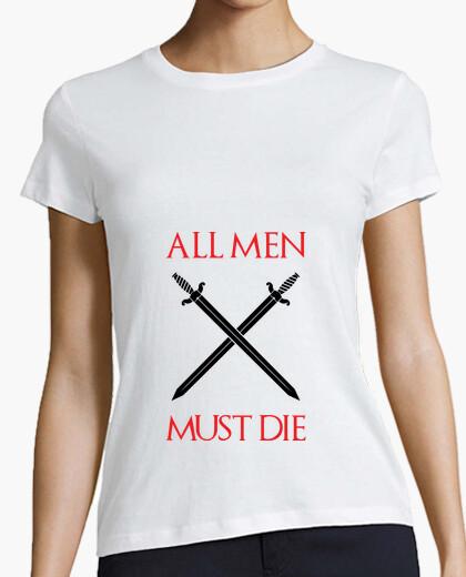 Tee-shirt T-shirt Game of thrones : All men must die