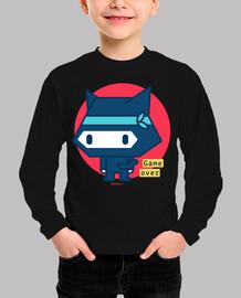 t-shirt garçon chat ninja (différentes couleurs et tailles)