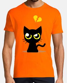 t-shirt gatto arrabbiato