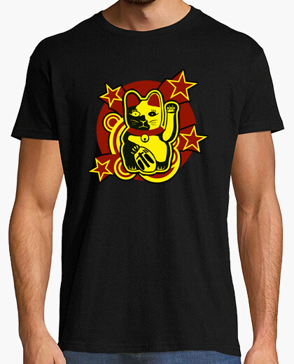 T-shirt gatto fortunato: maneki-neko