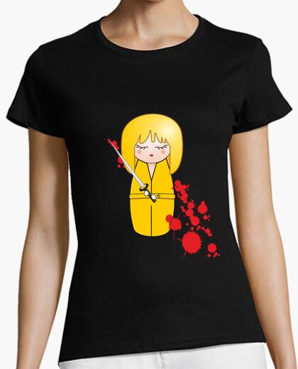 T-shirt gialla kokeshi beatrix (bill kill)