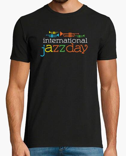T-shirt giorno di jazz maglietta internazionale