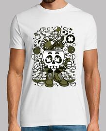 t-shirt gioventù del cartoni animati teschio militare