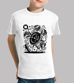 t-shirt gioventù di ginnastica divertente del cartoni animati