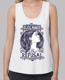 t-shirt girl elegance is refusal retro vintage