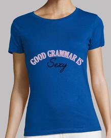 t-shirt girl good grammar is sexy