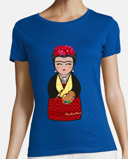 t-shirt green kokeshi frida kahlo