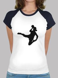 t-shirt handball ragazza disegno 1