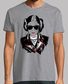 t-shirt heavy metal principessa leia