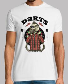 t-shirt hipster skull darts diana games