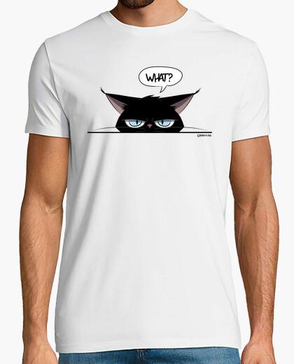 Tee-shirt t-shirt homme chat noir grincheux