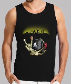 T-shirt homme sans manches, Noir