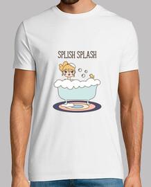 t-shirt homme splish splash
