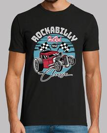 t-shirt hot rocker rockabilly vintage degli anni cinquanta