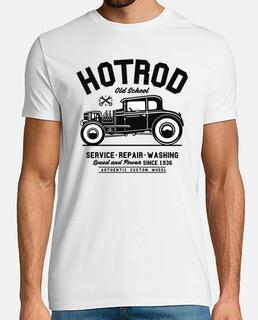 t-shirt hot rod vintage old school vintage 1936 meccanici