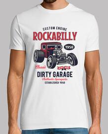 t-shirt hotrod classica americana auto rockabilly