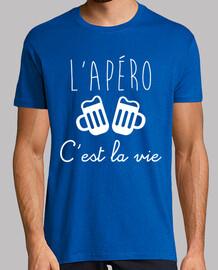 T-shirt humour drôle alcool L'apéro c'est la vie