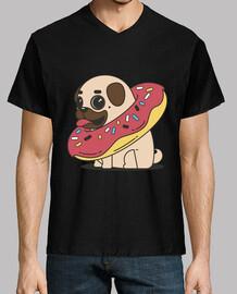 t-shirt hundehalsband mops spitze mops float donut