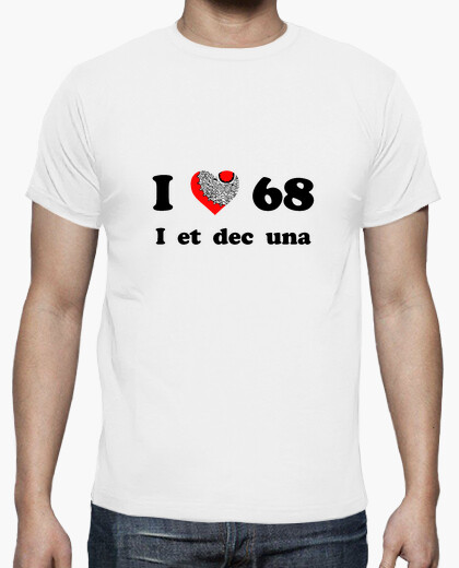 T-shirt i love i 68 et dicembre una