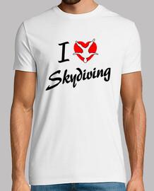 t-shirt i love skydiving mod.2