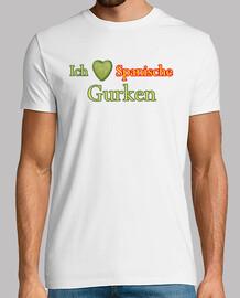 t-shirt ich liebe spanische gurken