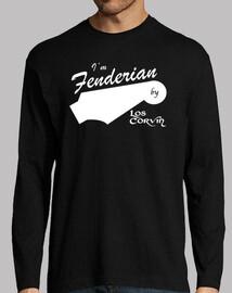 t-shirt im fenderian per los corvin (manica lunga uomo - nero)