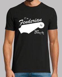 t-shirt im fenderian per los corvin (uomo - nero)