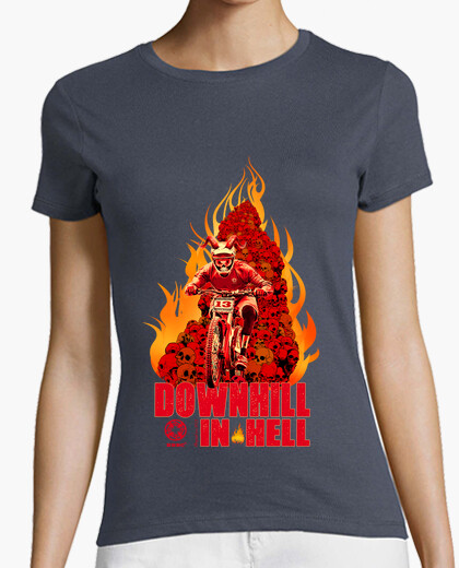 T-shirt in discesa in hell donna