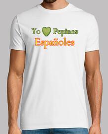 t-shirt io amo los cetrioli spagnoli
