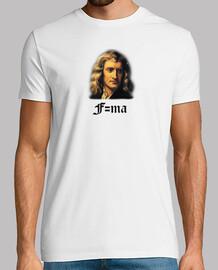 t-shirt isaac newton uomo