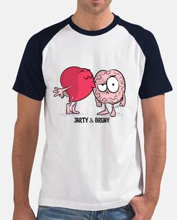 t-shirt jartybreny bacio - uomo