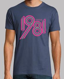 t-shirt je suis né en 1981