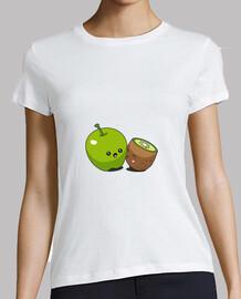 t-shirt kawaii apple kiwi pour femme