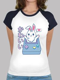 t-shirt kawaii gamer bunny surprise pour filles