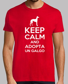 t-shirt keep calm and adotta un levriero