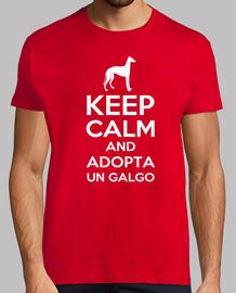 t-shirt keep calm and adotta un levriero
